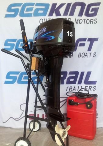 SeaKing 2 Stroke 15hp Long Shaft outboard