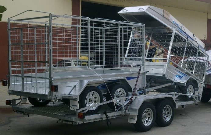 Galvanised Box/Car Trailers